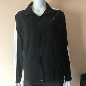 Nike Black White Side Trim Full Zip Jacket Medium
